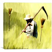 One Man Went to Mow, Canvas Print