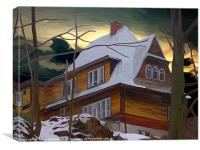 Hill House - Winter, Canvas Print