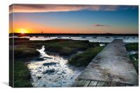 Wooden Jetty, Canvas Print