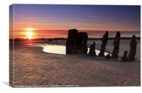 Ardrossan Wreck Beach Sunset, Canvas Print