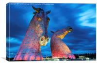 The Kelpies at Dusk, Canvas Print