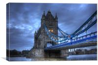 Tower Bridge in Blue, Canvas Print