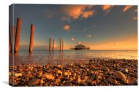 Brighton West Pier at Sunset, Canvas Print