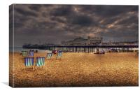 Brighton Beach deckchairs, Canvas Print