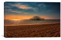 Brighton west Pier Sunset, Canvas Print