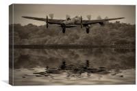 Departing Lancaster, Canvas Print