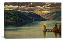 winter light over Lake Vyrnwy, Canvas Print