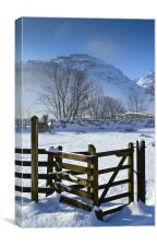 Pike Of Blisco In Winter, Canvas Print
