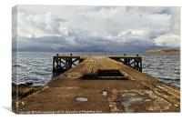 Portencross Jetty, Canvas Print