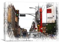 15th Street Block, Canvas Print