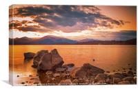 Liquid Gold Loch lomond, Canvas Print