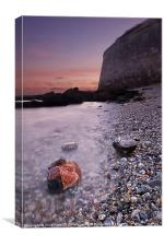 Wet Rocks at the Nothe, Canvas Print