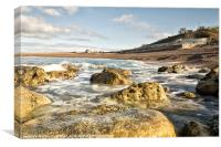 The Cove at Chesil, Canvas Print