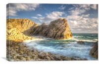 Stair Hole Bay, Canvas Print