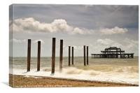 Brighton's West Pier Remains, Canvas Print