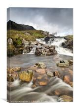 Falls at Glen Coe, Canvas Print