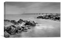 Severn Bridge Storm, Canvas Print