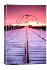 Wintery Sunrise @ Southport Pier, Canvas Print