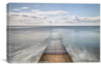 Seascale Pier, Canvas Print
