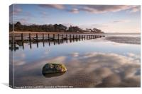 Aldingham Groyne Reflections, Canvas Print