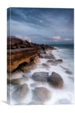 Moonlit Needle at Portland Bill, Canvas Print