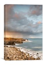 Sunset Storms at Portland Bill, Canvas Print