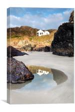 Kynance Cottages, Canvas Print