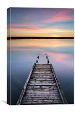 The Old Jetty on the Fleet Lagoon, Canvas Print