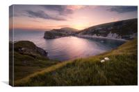Last Light at Lulworth, Canvas Print