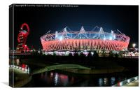 Olympic Stadium by night, Canvas Print