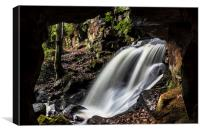 Caves at Lumsdale, Canvas Print