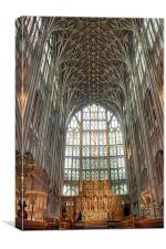 Gloucester Cathedral East Window, Canvas Print