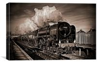 Oliver Cromwell Steam Train, Canvas Print