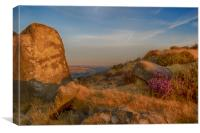 Curbar Edge, Peak District at Sunrise, Canvas Print