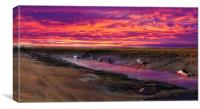 The fire in the sky.., Canvas Print