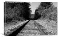 Black and White Railroad, Canvas Print