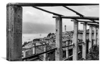 The rooftops of Limone sul Garda, Canvas Print
