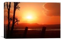 sunset in las frailes, Canvas Print