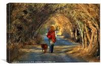 going for a walk (the softer version), Canvas Print