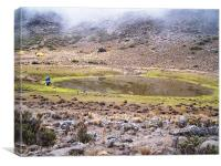 Water Collection On Mount Kilimanjaro, Canvas Print