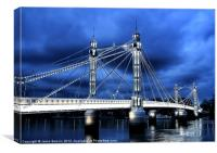 Albert bridge, London, Canvas Print