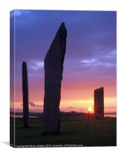 Stenness Sunset 3, Canvas Print