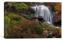 Hambleton Dyke Waterfall, Canvas Print
