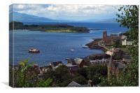 From MacCaig's Tower in Oban, Argyll. , Canvas Print