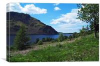 Ennerdale Water and Angle Crag, Canvas Print