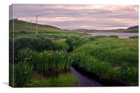 Evening at the Loch of Flugarth, Canvas Print