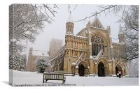 ST ALBANS ABBEY, Canvas Print