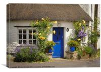 COTTAGE AT NUNNEY, Canvas Print