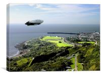 Airship over Folkestone, Canvas Print