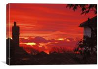Sunrise in Capel-le-Ferne, Canvas Print